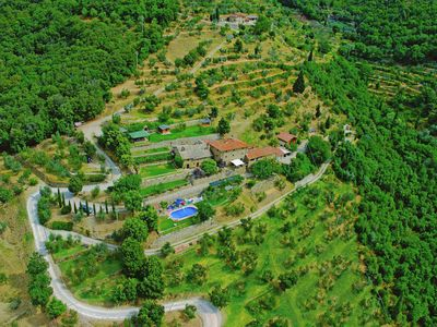 Photo for Charming cottage in the hills with swimming pool and beautiful view