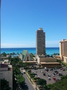 Photo for Spacious Ocean View Condo, One Block From Wikiki Beach. Free parking and Wifi