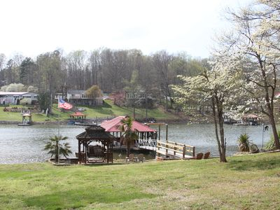 Photo for Lakefront Living! Paddle boat, Canoe, Fishing, and More! Sleeps 12!
