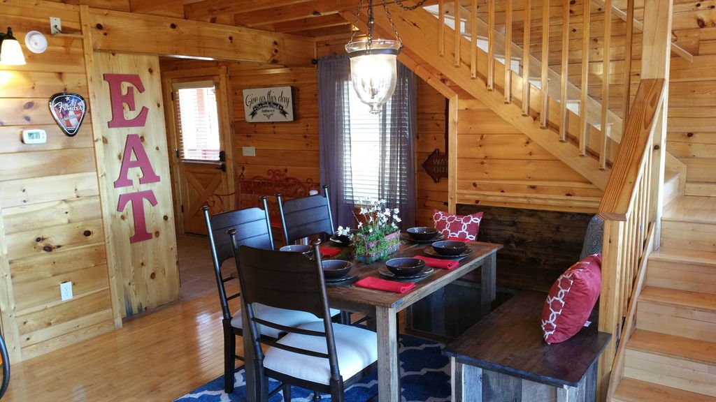 Custom Built Farm House Table And Barn Wood Bench. This Dinning Area Is  Amazing.