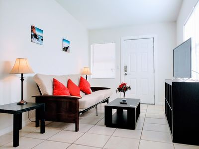 Photo for (SANITIZED & 50% Off) Comfy Unit Near Everything. Netflix WiFi & More