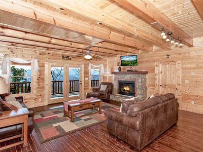Photo for Morning View Manor | Enjoy a Great Group Gathering! | Mountain Views | Pet-Friendly | Game Room