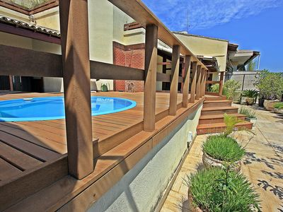 Photo for Penthouse w / pool, barbecue, 4 suites near the beach. 1 bedroom flat