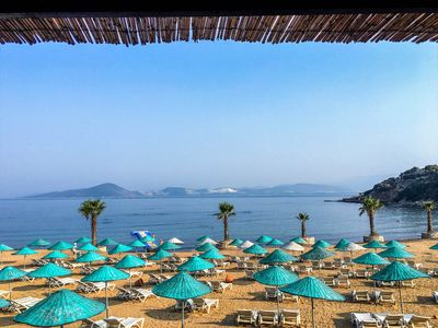 Relax by the private beach adjacent to Zergul Kent