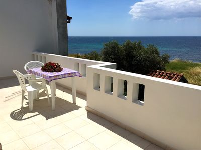 Photo for OVERVIEW APARTMENT WITH LARGE TERRACE OVERLOOKING THE SEA !!