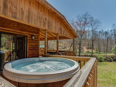 Photo for Piney Knob Cabin  15 Min To Lake Lure - 30 Min To Tiec - Hot Tub - Stocked Pond