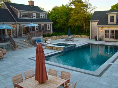 Photo for Edgartown Retreat. Walk to Town. Heated Pool and Guest House! Recently Renovated