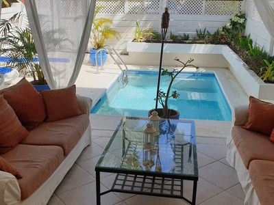 Quarantine-approved romantic villa with plunge pool, St James