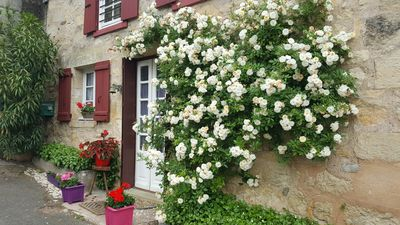 Photo for For Couples Charming cottage with panoramic view at Hautefort Dordogne