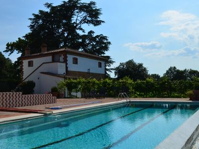 Photo for Villa Bacci is a wonderful villa with private pool and tennis court, ideal for large families or gro