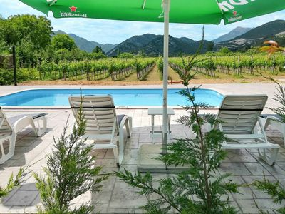 Photo for Lovely apartment for 8 guests with private pool, A/C, WIFI, TV and parking