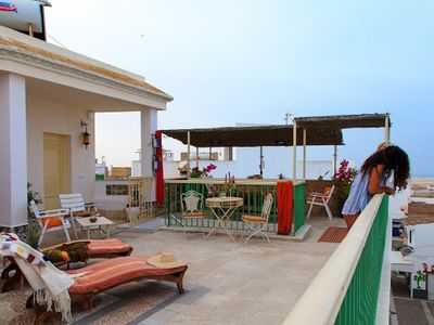Photo for Charming Studio Apartment In Historic Centre Close To Beach with Rooftop Terrace, Balcony & Wi-Fi