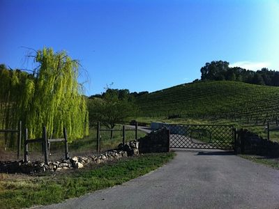 Front gate of Jones Ridge Ranch and Vineyard