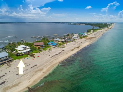 Photo for Xanadu!  8BR/6BA, ON.THE.BEACH! Ocean-to-River,  Elevator, Dock, etc