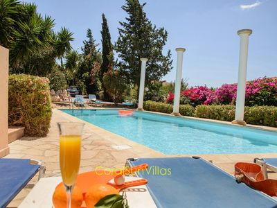 Photo for Wonderful quiet area,Complete Privacy,large Pool, Colorful Garden, jacuzzi/Sauna