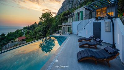 Photo for Traditionally built villa with stunning sea view