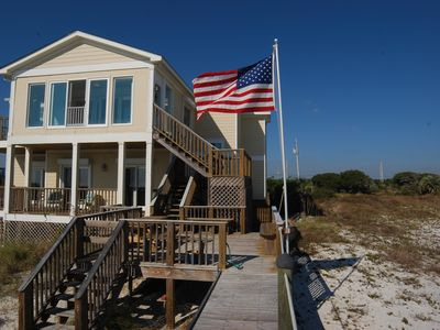 Photo for Beachfront Home in Orange Beach~6 Bedroom Directly on Gulf Of Mexico!