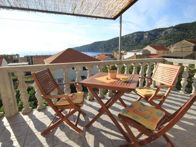 Photo for Studio flat with terrace and sea view Komiža (Vis)