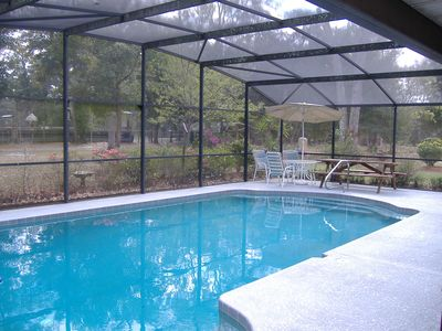The pool at the main house is available for use by renters of the cottage.