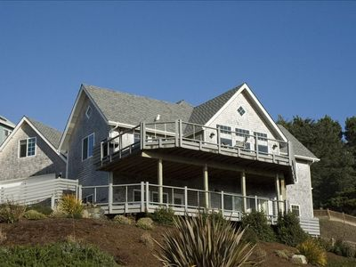 Photo for Views from every room! Upscale, Family friendly, Hot tub, WiFi, close to beach