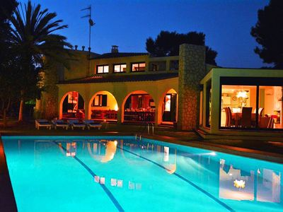 Photo for Luxury Sitges Villas Mahe. 150 meters of beach. The best area. Yard. Swimming pool.