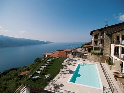 Photo for Holiday apartment Holiday Flat in the Residence Ruculi with lake view