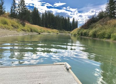 Easy river access from the dock.