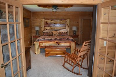 Master Suite has custom made King size bed and night stands