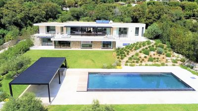 Photo for New contemporary villa, magnificent views of the sea and Saint Tropez