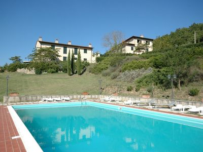 Photo for Lovely apartment for 4 guests with WIFI, pool, TV, pets allowed, panoramic view and parking