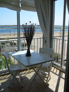 Photo for Gruissan 2 room apartment Oceanview 15m from the beach Grazel
