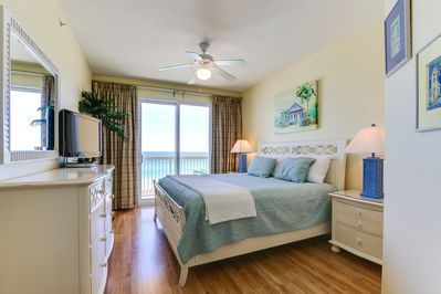 Master Bedroom with beautiful views of the Gulf!