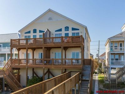 Photo for Oceanfront 5 BR 5.5 Bath Elevator Pets Welcome-Raindrops on Roses