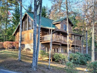 Photo for Gorgeous Five Star Cabin - Views for Days!!