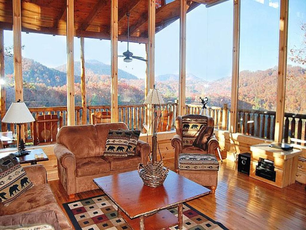 Cabin with awesome views 3 bedroom 3 1 2 bath wears for 10 bedroom cabins in tennessee