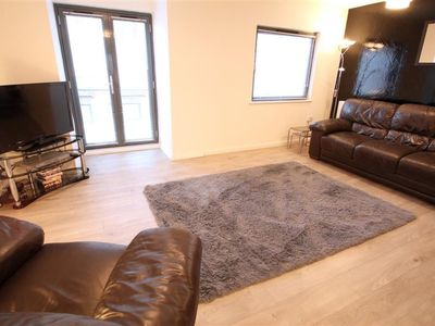 Photo for This smart apartment is in a great location, overlooking the marina in Swansea.  With accommodation
