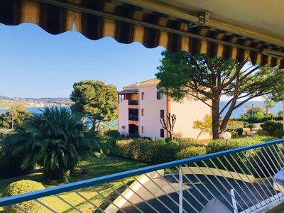 Photo for Superb T3 near beach with terrace sea view, parking, air conditioning and wifi