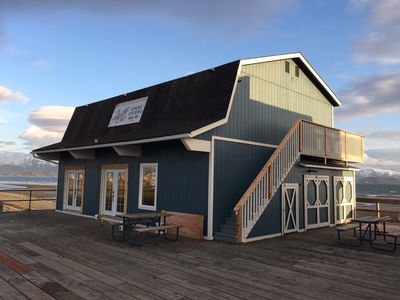 The Alaska Salt Company storefront.  The guest rooms are accessed by the stairs.