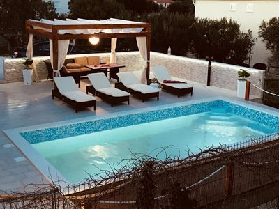 Photo for Seaside family friendly house with a swimming pool Sevid (Trogir) - 11828