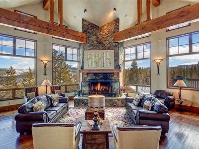 Photo for Breckenridge luxury home, gorgeous views, private hot tub, incredible decor.