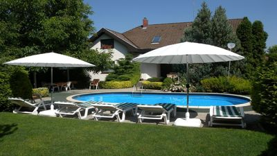 Photo for Family friendly holiday home with large pool and garden for the whole family