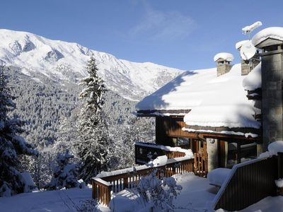 Photo for Lovely apartment in a chalet ski in ski out