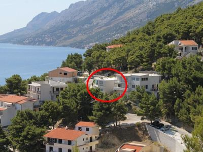 Photo for Studio appartment in Brela (Makarska) capacity 2+0