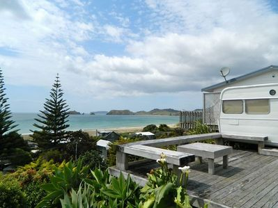 Bach With a View - Opito Bay Bach - Decking and Views!