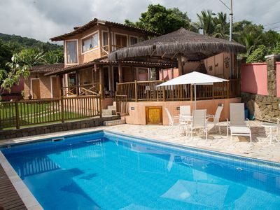 Photo for Beautiful house in rustic style 700 meters from Curral Beach