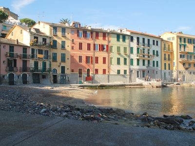 Photo for Charming apartment on the beach in the Portofino gulf