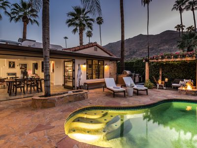 Photo for Luxury 4 Bed/3 bath South Palm Springs Mediterranean, Fire-Pit, Pool Home