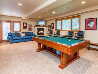 Game Room - Rack up the pool table in the game room.
