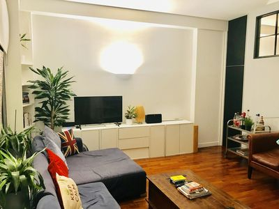 Photo for Cool Shoreditch apartment for up to 6 people 2 mins from famous Brick Lane