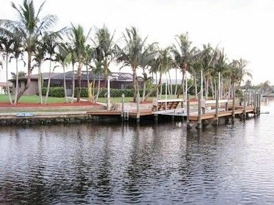 Crooked Palms and Dock from Canal